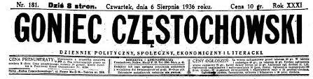 Listopad 1918 r. w Częstochowie…